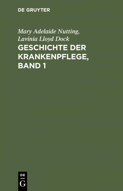 Geschichte der Krankenpflege, Band 1 cover
