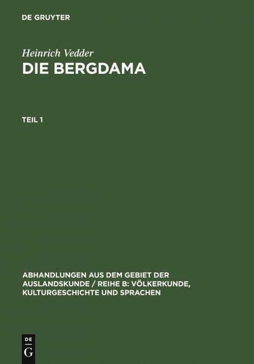 Die Bergdama. Teil 1 cover