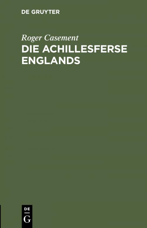 Die Achillesferse Englands cover