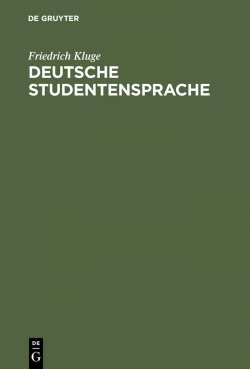 Deutsche Studentensprache cover