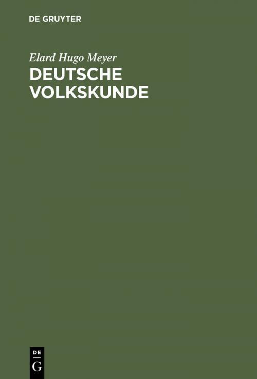 Deutsche Volkskunde cover