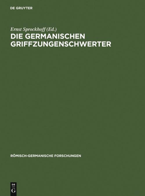 Die germanischen Griffzungenschwerter cover