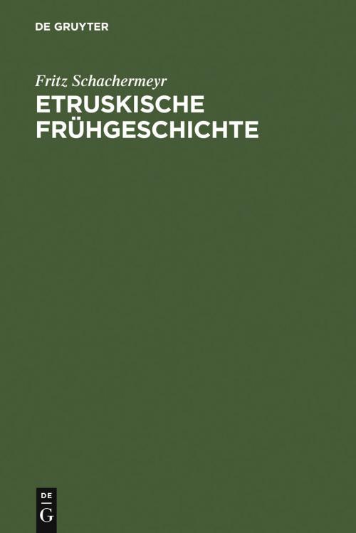 Etruskische Frühgeschichte cover