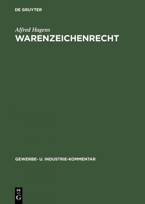 Warenzeichenrecht cover