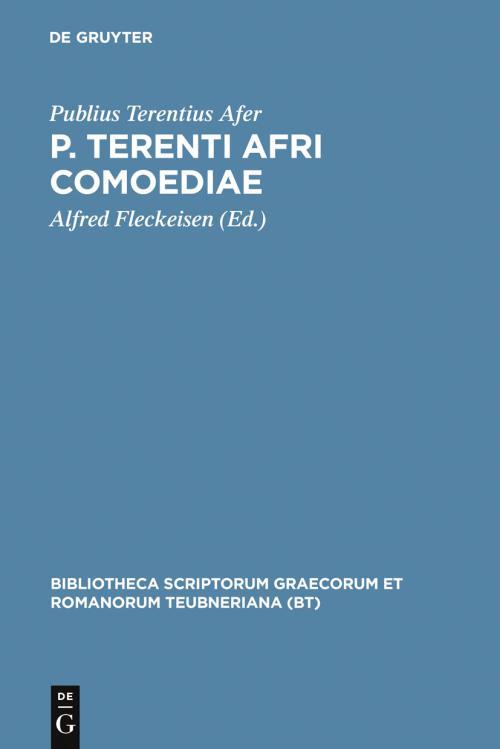 P. Terenti Afri comoediae cover
