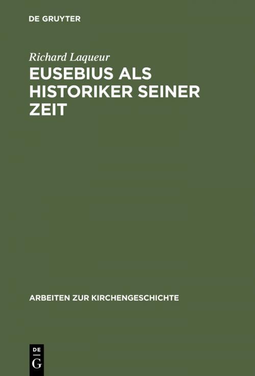 Eusebius als Historiker seiner Zeit cover