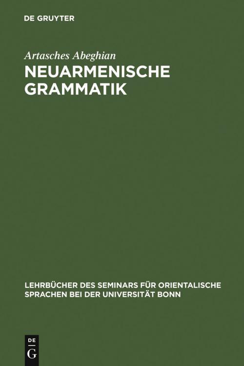 Neuarmenische Grammatik cover