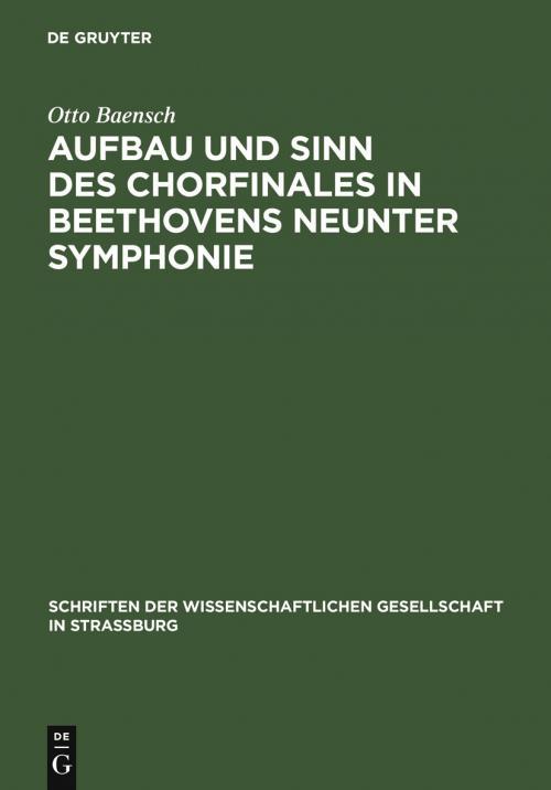Aufbau und Sinn des Chorfinales in Beethovens neunter Symphonie cover