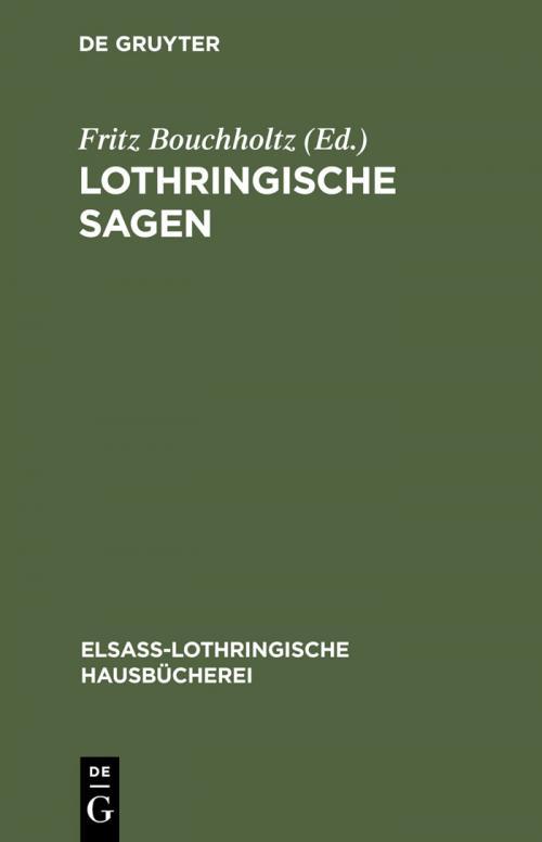 Lothringische Sagen cover