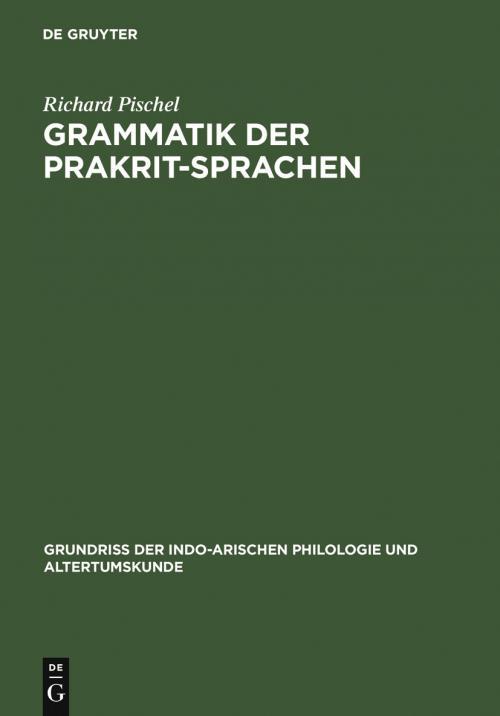 Grammatik der Prakrit-Sprachen cover