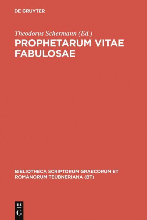 Prophetarum vitae fabulosae cover
