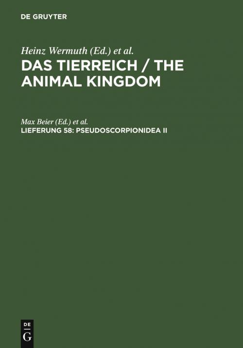 Pseudoscorpionidea II cover