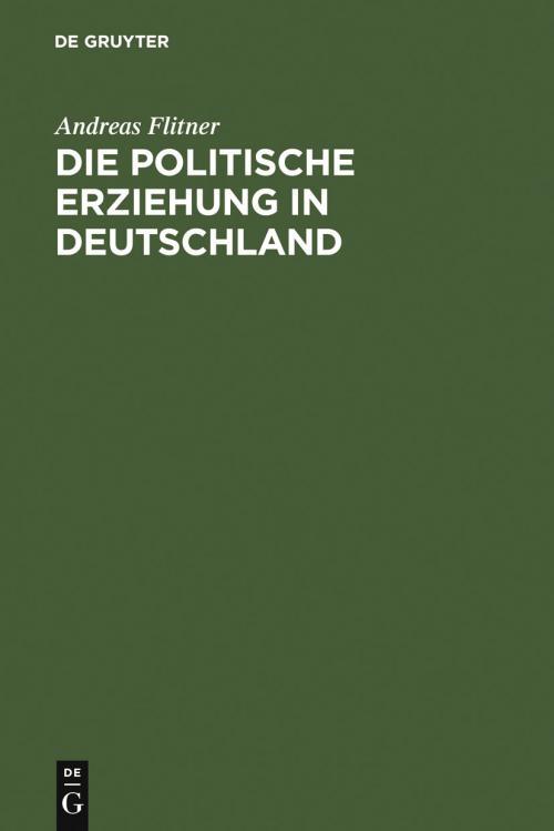 Die politische Erziehung in Deutschland cover
