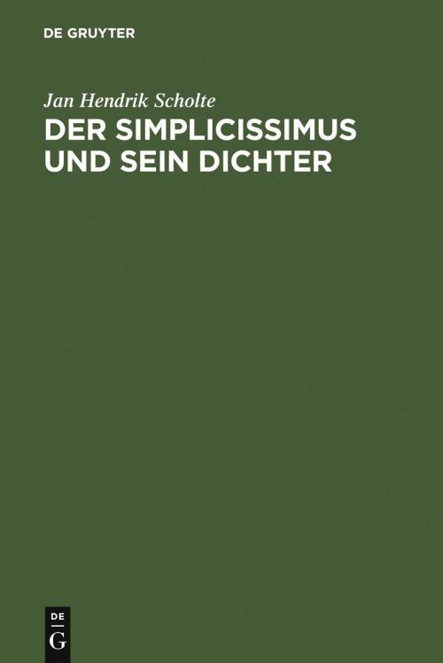 Der Simplicissimus und sein Dichter cover