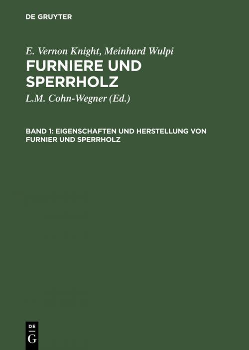 Eigenschaften und Herstellung von Furnier und Sperrholz cover