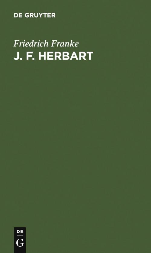 J. F. Herbart cover