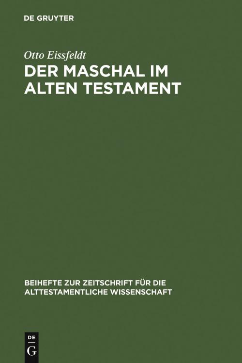 Der Maschal im Alten Testament cover