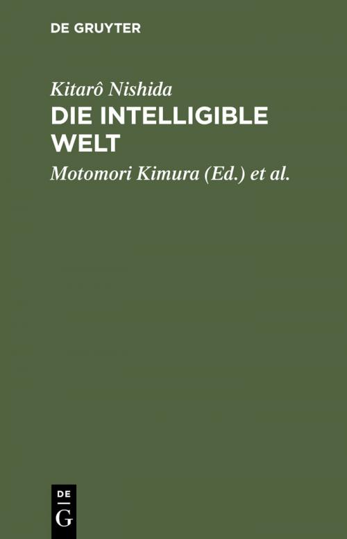 Die intelligible Welt cover