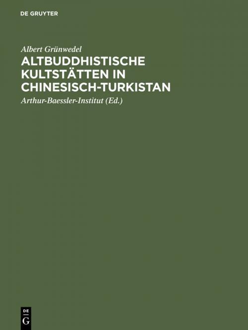 Altbuddhistische Kultstätten in Chinesisch-Turkistan cover