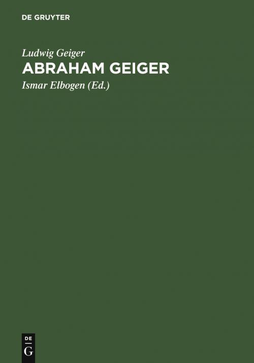 Abraham Geiger cover