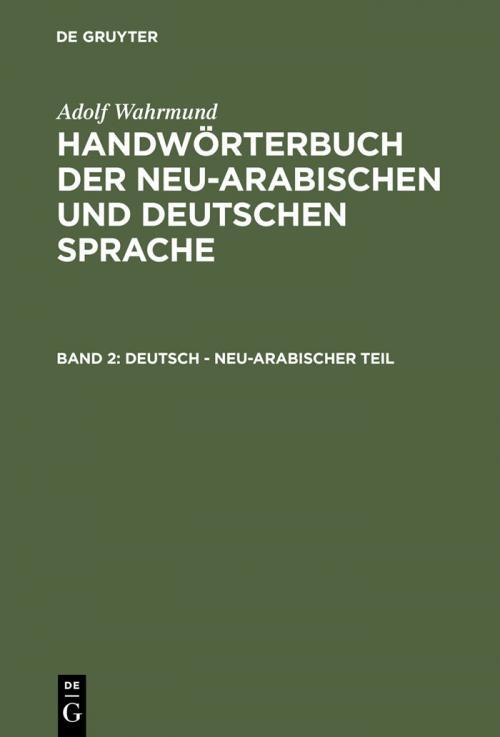 Deutsch - neu-arabischer Teil cover