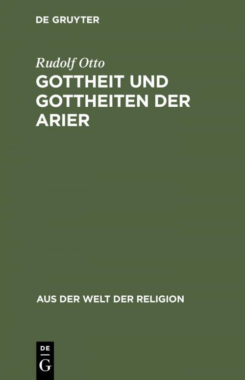Gottheit und Gottheiten der Arier cover