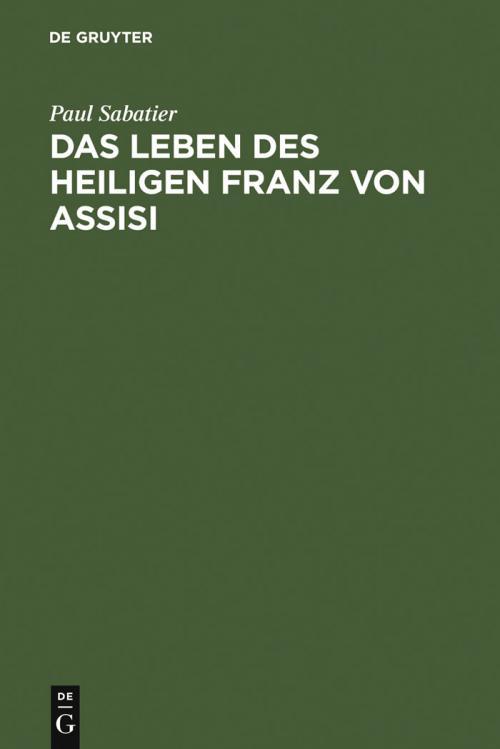 Das Leben des heiligen Franz von Assisi cover