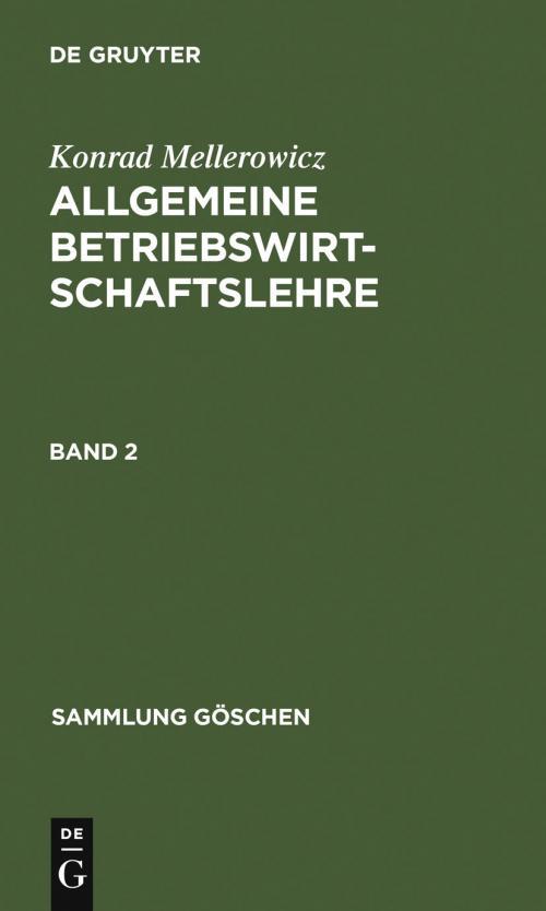 Allgemeine Betriebswirtschaftslehre. Band 2 cover
