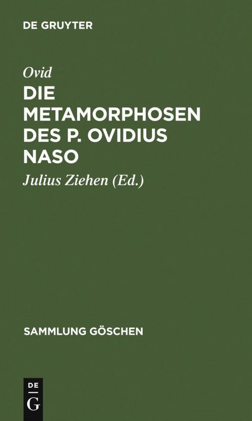 Die Metamorphosen des P. Ovidius Naso cover