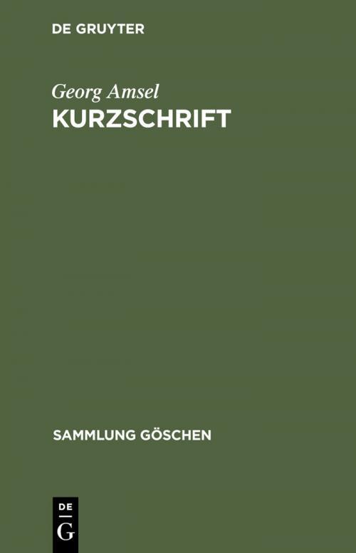 Kurzschrift cover