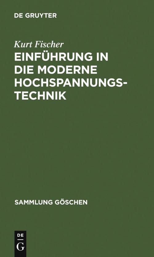 Einführung in die moderne Hochspannungstechnik cover