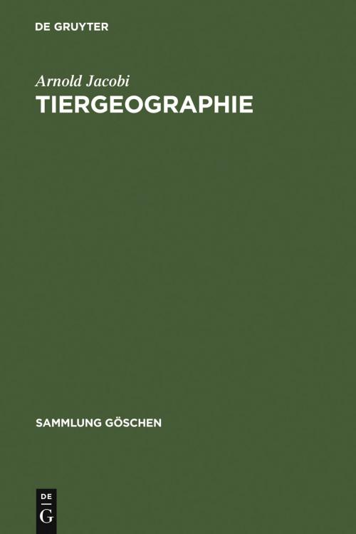 Tiergeographie cover