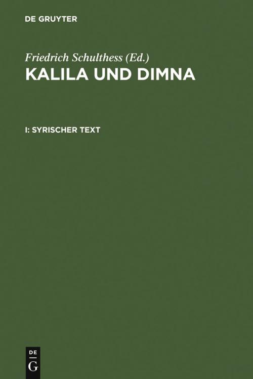 Kalila und Dimna cover