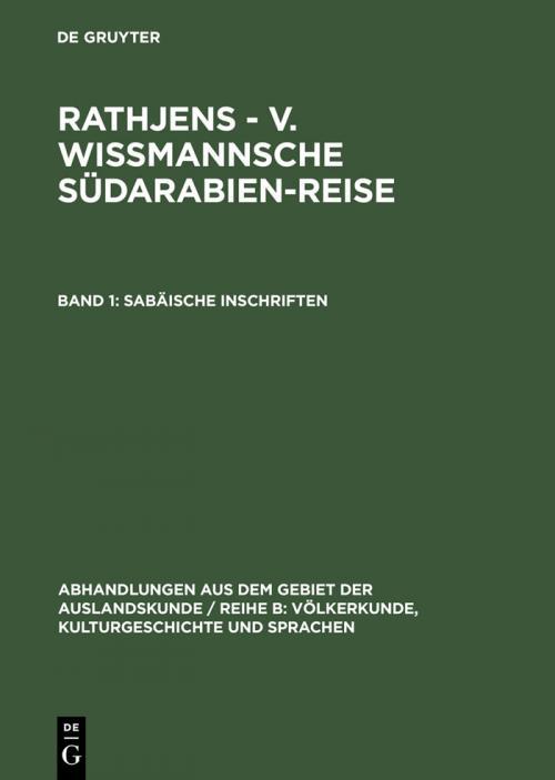Sabäische Inschriften cover