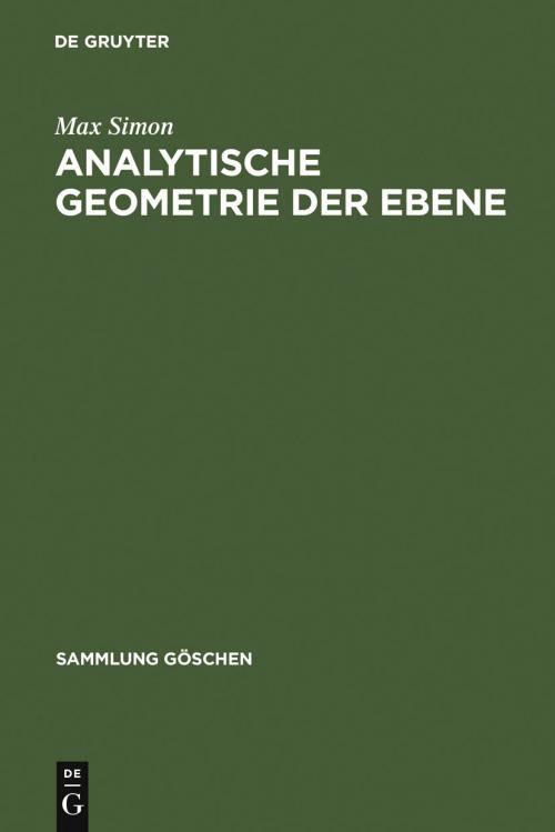 Analytische Geometrie der Ebene cover