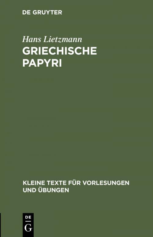 Griechische Papyri cover