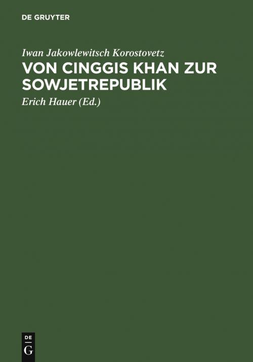 Von Cinggis Khan zur Sowjetrepublik cover