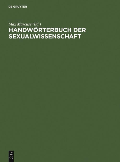 Handwörterbuch der Sexualwissenschaft cover