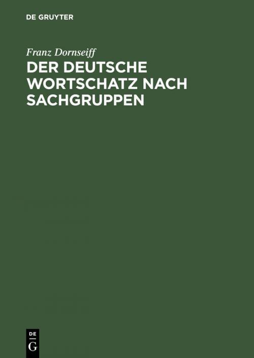Der deutsche Wortschatz nach Sachgruppen cover