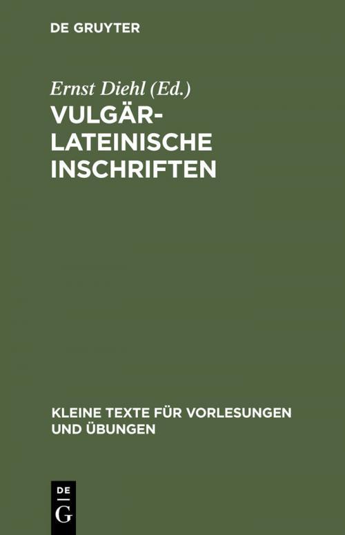 Vulgärlateinische Inschriften cover