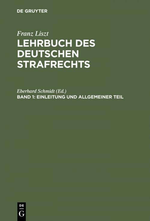 Einleitung und Allgemeiner Teil cover