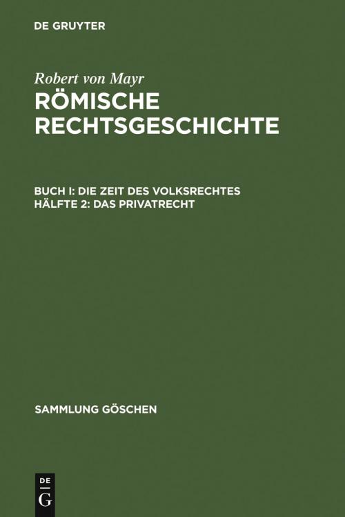 Das Privatrecht cover