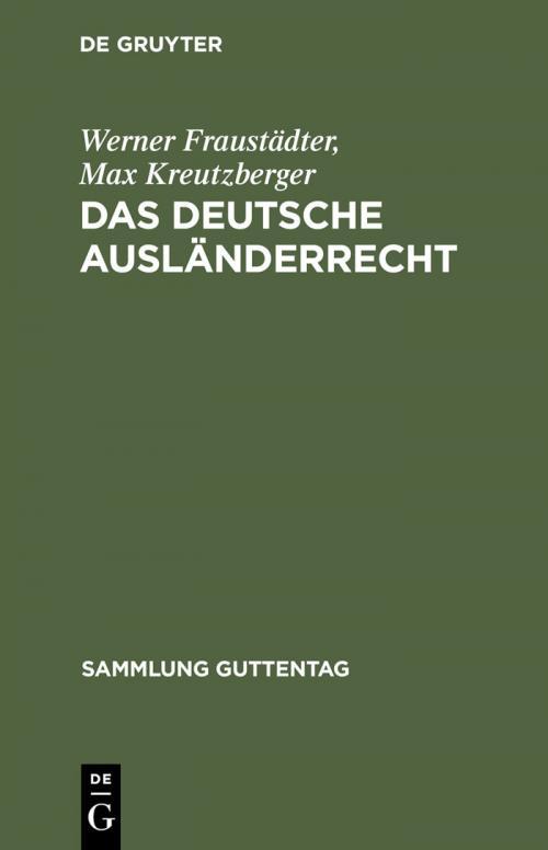 Das deutsche Ausländerrecht cover