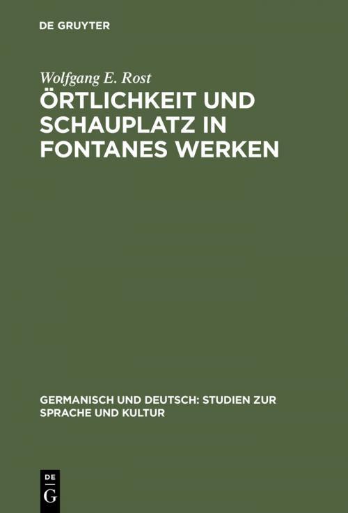 Örtlichkeit und Schauplatz in Fontanes Werken cover