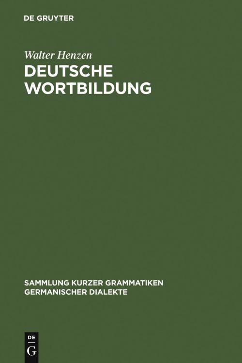 Deutsche Wortbildung cover