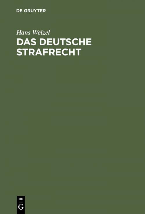 Das deutsche Strafrecht cover