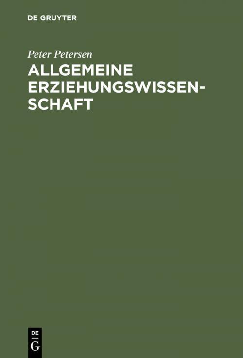 Allgemeine Erziehungswissenschaft cover