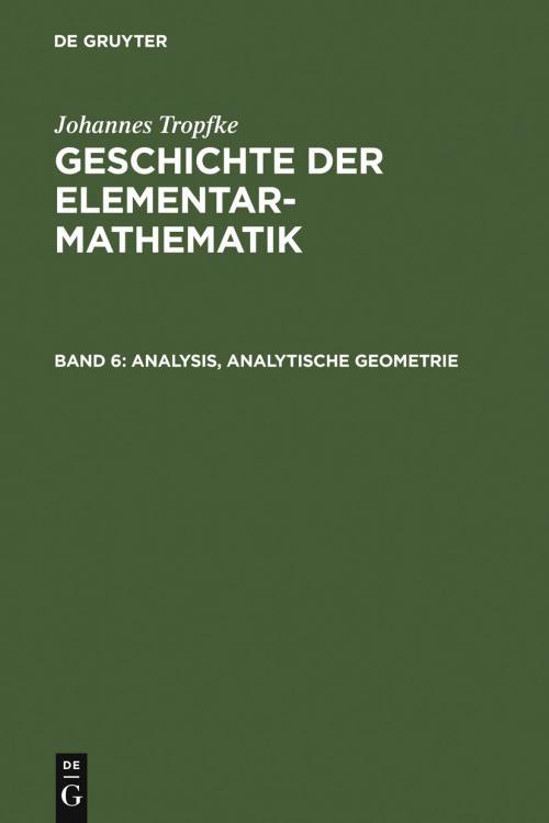 Analysis, analytische Geometrie cover