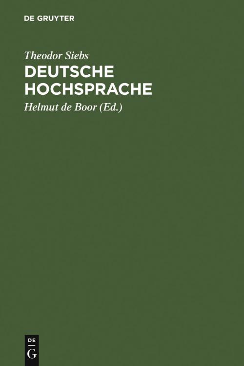 Deutsche Hochsprache cover