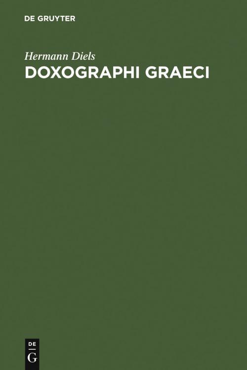 Doxographi Graeci cover